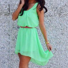 mint pastell dress mint green, high low dresses, fashion ideas, cloth, green dress, pastel dress, minti mint, minti fresh, mint pastel