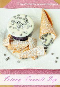 Skinny Cannoli Dip @Back For Seconds #healthy #dip #snack #nobake backforsecondsblog.com