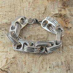 pop tab bracelet  crosslink 7 1/4  inch
