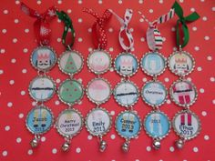 Christmas ornaments personalized glitter Nutcracker suite