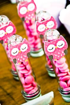 Favors at an Owl Party #owl #partyfavors