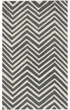 """Chevron"" charcoal rug from Rugs USA"