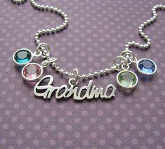 grandma's birthstone necklace by juliethefish on Etsy