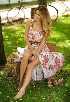 summer dresses, floral prints, fashion ideas, heel, flower prints, street styles, belt, floral bouquets, floral dresses