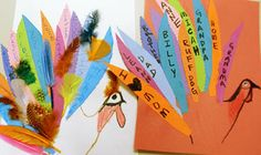 little ones, holidays, children, display, thanksgiving, feathers, terrif turkey, messages, the holiday