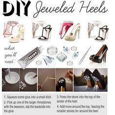 DIY: Jeweled Heels, created by polyvore-editorial on Polyvore