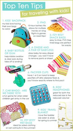 Top Ten Tips For Traveling With Kids