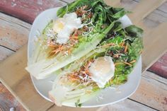 Recipe - Grilled Romaine with Poached Eggs