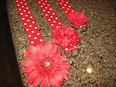 tutorial to make cute flower belts for little girls