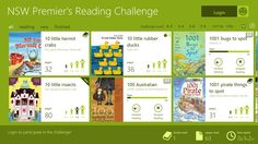 The NSW Premier's Reading Challenge Preview app is a great way for students to find new books and track their progress in the challenge. In addition to browsing the challenge booklist, it includes the ability to track the time spent and place inside each book. Progress bars encourage students to keep reading, and the offline capability means this app works anytime. es1 window, the challenge