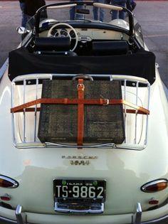 Porsche...white convertible car