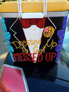 Hand Painted Coolers by CreationsByDarby on Etsy