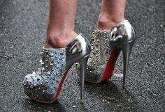 wow spike, fashion shoes, metal, girl fashion, stud, closet, christian louboutin, killer heels, girls shoes