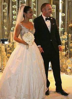 celebrity wedding gown