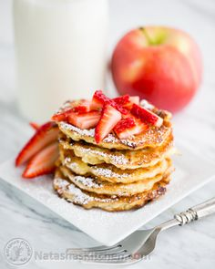 Polish Apple and Cottage Cheese Pancakes.