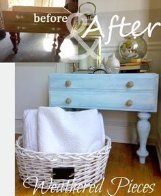 Upcycled Furniture Before & After