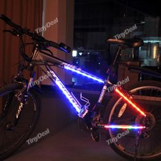 Bike Bicycle Safety Cycling 14 LEDs Light Bar Strip - Color Assorted FLD-162722
