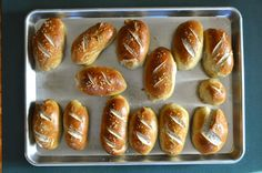 pretzel rolls - soft, salty and deliciously homemade. #food