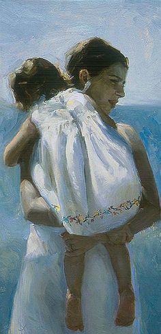 Summer by Johanna Harmon contemporary artists, mother, summer art, painting art, johanna harmon, art evok, ink drawings, artwork, evok emot
