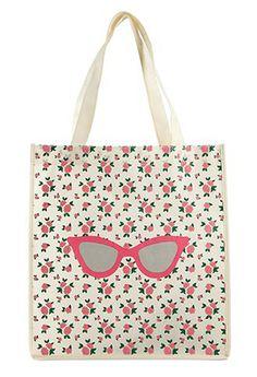 feminine roses + fun sunnies = tote party!