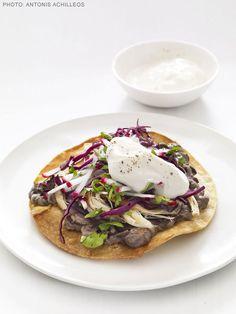 Chicken and Black Bean Tostadas Recipe : Food Network Kitchen : Food Network - FoodNetwork.com