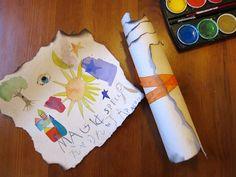 Homemade wizard scrolls