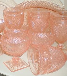 American sweetheart....pink depression glass... my plate is this pattern