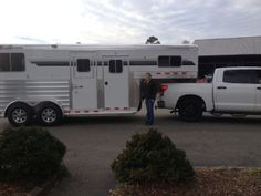 A big thank you to Evin Ellis of Charlotte, NC on the purchase of her 2014 4-Star 2 Horse Straight Load GN from L A Trailer Sales, LLC!! 800.350.0358