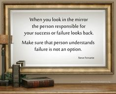 When You Look In The Mirror...