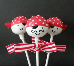 I made these cake pops for Madden's birthday party! I LOVE cake pops!!