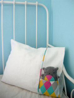 love this...pillowcase where their favorite friend can get tucked in!