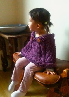 PDF Knitting Pattern - Chunky Cables Cape for Toddler want to learn to knit so i can make this.