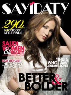 J.Low - Jennifer Lopez on the Front Cover of the English version of Sayidaty Magazine