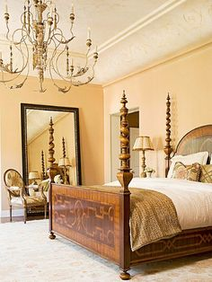 Inspiration Gallery: Bedrooms | Decorating Files | decoratingfiles.com. That bed frame!