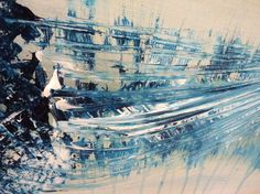 Modern Abstract Canvas Painting Original by SOMETHINGdebussy, $259.00