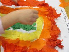 Tissue paper rainbows...