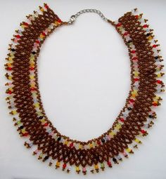 Free pattern for necklace Colorful Glass | Beads Magic