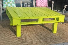 A patio table made from a recycled pallet!