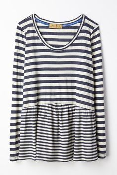 striped peplum tee / anthropologie