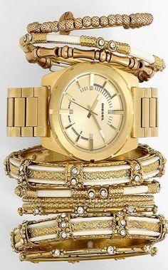 DIESEL® Watch, Spring Street Bangles & Alex and Ani Bracelets