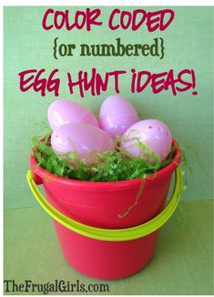 Easter Egg Hunt Ideas: Color Coded or Numbered Eggs! {+ more creative egg hunt tips and tricks!} #eastereggs #thefrugalgirls