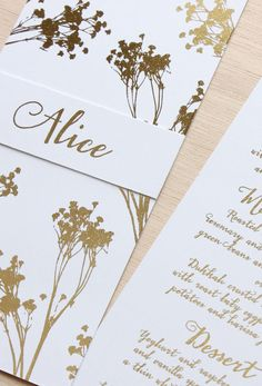 Day of Dreams Wedding Stationery Suite Gold