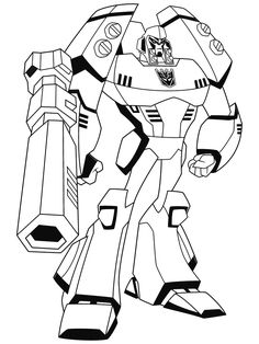 Transformers Animated Coloring Pages Free RedCabWorcester