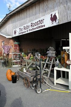 Antiquing at the  Ruby Rooster in Lewisburg, WV.