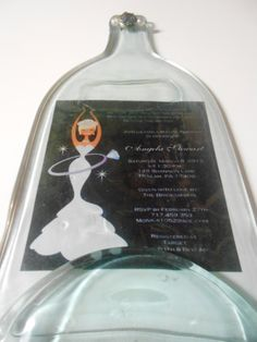 Bridal Shower Gift   Melted wine bottle made by Collectivekayos, $28.00