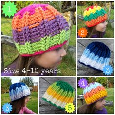 Multicolour Striped Avalanche Beanie/Hat/Cap for Kids/Boys/Girls