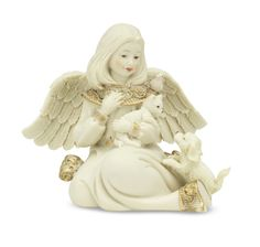 Sarah's Angels Angel with Animals features an angel lovingly holding a cat, with a dog gazing up at her.  Sarah's Angels are beautiful, exquisitely-crafted angel with pet figurines for your collection or as a gift for a pet-loving friend or family member.  For the best in pet lover gift and pet sympathy gifts, visit us online at the Kindred Spirits Gift Shop, LLC.