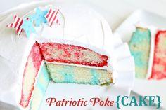 Patriotic Poke Cake --love how this looks:)