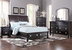 Remington Place 5Pc Queen Bedroom at Rooms To Go.