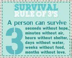 Survival rule of 3's